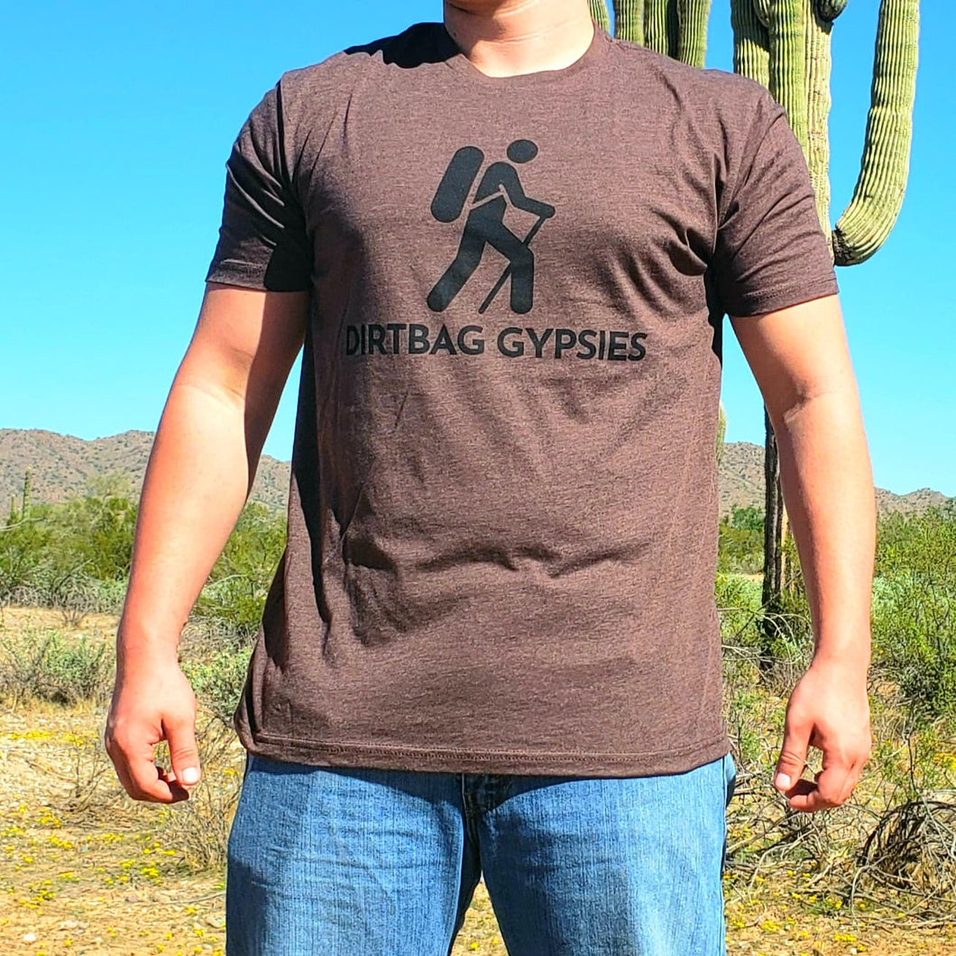 Espresso DirtBag Gypsies Short Sleeve Shirt with Black logo