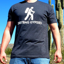 Load image into Gallery viewer, Charcoal DirtBag Gypsies Short Sleeve Shirt with White logo