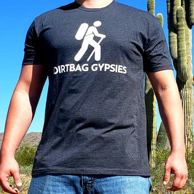 Charcoal DirtBag Gypsies Short Sleeve Shirt with White logo