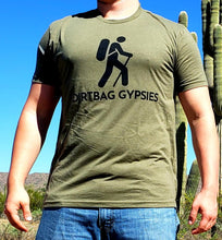 Load image into Gallery viewer, Military Green DirtBag Gypsies Short Sleeve Shirt with Black logo S-3XL