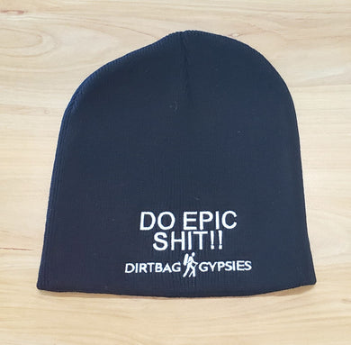 DO EPIC SHIT Black with White Beanie 8