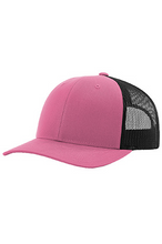 Load image into Gallery viewer, Hot Pink/Black DirtBag Gypsies Snap Back Hat with Black Logo