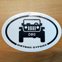 Load image into Gallery viewer, Dirtbag Gypsies Jeep Oval Sticker