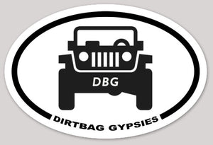 Dirtbag Gypsies Jeep Oval Sticker