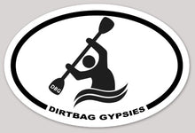 Load image into Gallery viewer, Dirtbag Gypsies Kayaker Oval Sticker