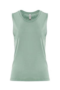 Stonewash Green Hiker Ladies Muscle Tank Top Small Logo