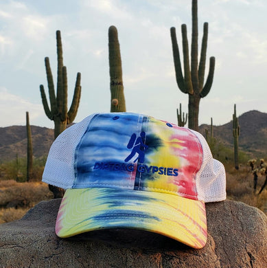 Rainbow Tie Dyed Embroidered Trucker Hat