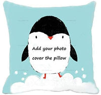 Civbalen Custom Pillow Personalized Photo Pillow (Including Pillowcore) with Duplex Print Image/Text Unique Birthday Anniversary Custom Gift for Her/Him(16''16'')