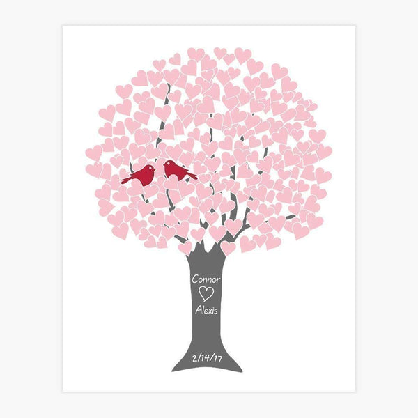 Personalized Couple Wedding Anniversary Gift for Parents, Love Tree Art Print (Many Sizes)