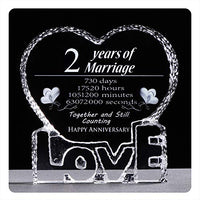 YWHL Custom Wedding Anniversary Sculpture - Perfect Personalized Crystal Couple Gift for Him Husband Boyfriend Her Wife Girlfriend Valentine's Day