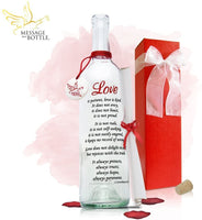 "Message In A Bottle ""LOVE Personalized Gift for Him or Her"