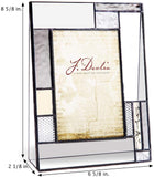 Wedding Picture Frame Personalized Gift for Couple Engraved Glass Table Top 4x6 Vertical Photo Engagement Keepsake J Devlin Pic 392-46V EP567