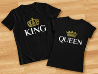 King & Queen Matching Couple Set His & Hers T-Shirts