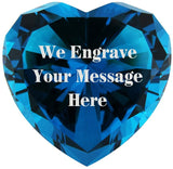 Personalized Custom Engraved Crystal Diamonds (TURQUOISE)