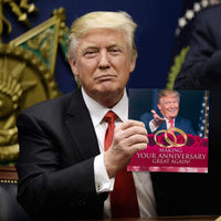 Talking Trump Anniversary Card – Says Happy Anniversary in Donald Trump's REAL Voice - Give Someone a Personal Anniversary Greeting from The President of The United States - Includes Envelope