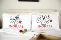 Qualtry Personalized Couples Pillowcases - Romantic and Unique Wedding, Also New Engagement Gifts for Couple (Samuel & Sariah Design)