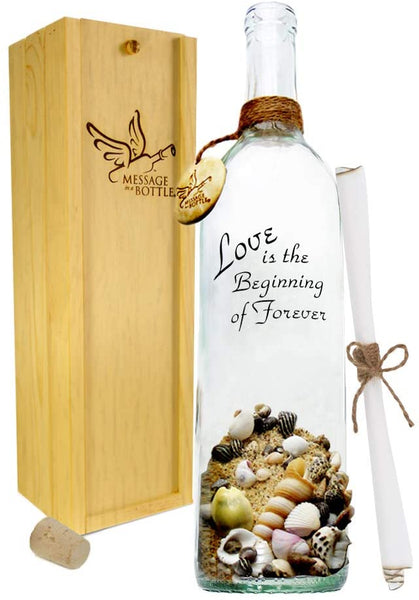 "Message In A Bottle ""Promise Personalized Gift for Him or Her"