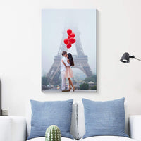 NWT Custom Canvas Prints with Your Photos Anniversary Ideas, Personalized Canvas Pictures for Wall to Print Framed 10x8 inches