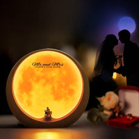 mamre Moon Ambient Light DIY Anniversary Wedding Valentines Day Gift Ideas Art Décor, Love Beneath The Red Moon