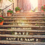 I Will Love You Every Step of the Way - Personalized Picture Print Artwork with Couple's Names Special Date and Your Own Message on, Great Gift for Anniversary,Wedding,Birthday and Holidays.