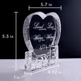 YWHL Custom Valentines Gift Anniversary Sculpture - Perfect Personalized Crystal Couple Gift for Him Husband Boyfriend Her Wife Girlfriend Valentine's Day