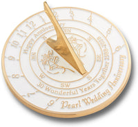 The Metal Foundry 30th Pearl 2020 Wedding Anniversary Sundial Gift. Solid Recycled Brass Gift Idea is A Great Present for Him, Her, Parents, Grandparents Or Couple On 30 Years of Marriage