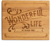 Qualtry - Personalized Wood Cutting Boards - Perfect Gifts For Weddings, Bridal Showers, and Housewarmings - (11 x 17 Single Tone Bamboo Rectangular, Grayson Design)
