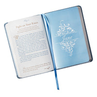 Mr. & Mrs. 366 Devotions for Couples | Enrich Your Marriage and Relationship | Blue Faux Leather Flexcover Devotional Gift Book w/ Ribbon Marker
