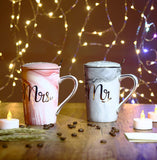 Wedding Gifts Mr and Mrs Mugs Set Husband and Wife Anniversary Gifts Married Couples Gifts Porcelain Coffee Mugs Bridal Shower Engagement Gifts Ceramic14 Ounce Marble Cups