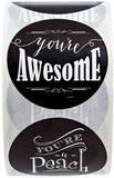 "SBLABELS Retro Chalkboard Thank You Stickers - 1.5"" Circle Labels / 500 per Pack"