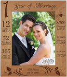 LifeSong Milestones 1st Anniversary Picture Frame 1 Year of Marriage - One Year Wedding Keepsake Gift for Parents Husband Wife him her - The Best is Yet to Come (6.5x8.5)