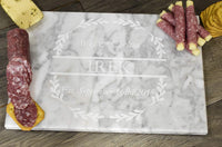 Brew City Engraving - Custom Personalized Engraved Marble Charcuterie Cheese Pastry Stone Cutting Board for Wedding, Anniversary, Housewarming, Mother's Day, Fathers Day Gift/Present for Cooks