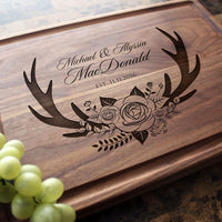 Personalized Cutting Board, Custom Keepsake, Engraved Serving Cheese Plate, Wedding, Anniversary, Engagement, Housewarming, Birthday, Corporate, Closing Gift #412