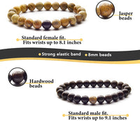 Anavego True Bond Matching Couples Bracelet Set Comes with Unique Storage Gift Box. Gift for Him Her Boyfriend Girlfriend Husband Wife Women Men. 8 Millimeter Beaded