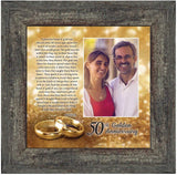 Bands of Gold, Personalized 50th Wedding Picture Frame, 10x10 6314BW