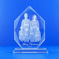 Diamond Plague Photo Crystal Laser Engraving with Your Personalized Customized Company Logo, Sweet 15. Mis Años, Anniversary, Sports HL085