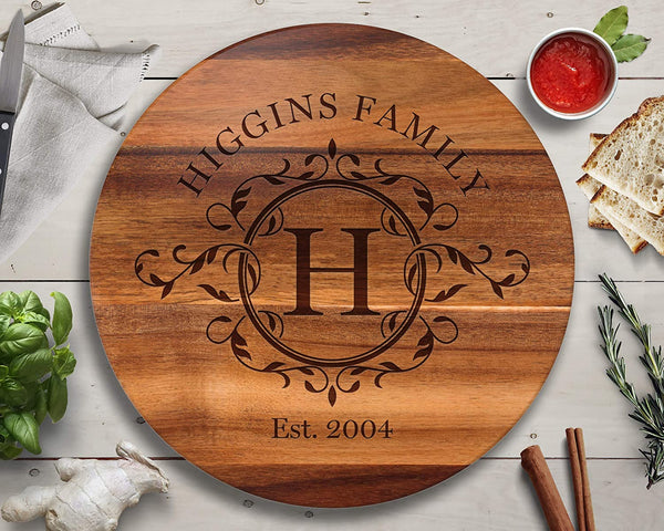 Lazy Susan, Custom Lazy Susan, Personalized Lazy Susan, Custom Wedding Gifts, Turntable, Lazy Susan Turntable, Cutting Board, Custom Cutting Board, Personalized Cutting Board
