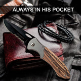 Engraved Folding Knife Personalized Tactical Knife Cute Gifts for Boyfriend Valentine Gifts for Him from Girlfriend Birthday Wedding Anniversary Gifts for Husband Men (I Love You!)
