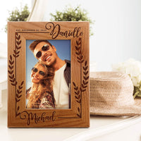 UnitedCraftSupplies Personalized Wedding Picture Frame w/Name and Date, 4x6, 5x7, 8x10 - Romantic Wedding Gifts for The Couple, Custom Wedding Photo Frame, Engagement, Valentine's Day #6