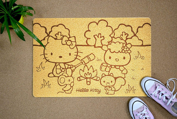 Hello Kitty 24x16 inch Doormat Back Outside Exterior Rubber Porch Custom Welcome Mat Home Decor Anniversary Housewarming Birthday Xmas Gift for Wife Girlfriend Daughter Sister Hostess Neighbor