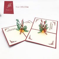 Invitation Greeting Cards Love 3D Pop UP Cards Valentines Day Gift Postcard with Envelope Stickers Wedding Anniversary for Her