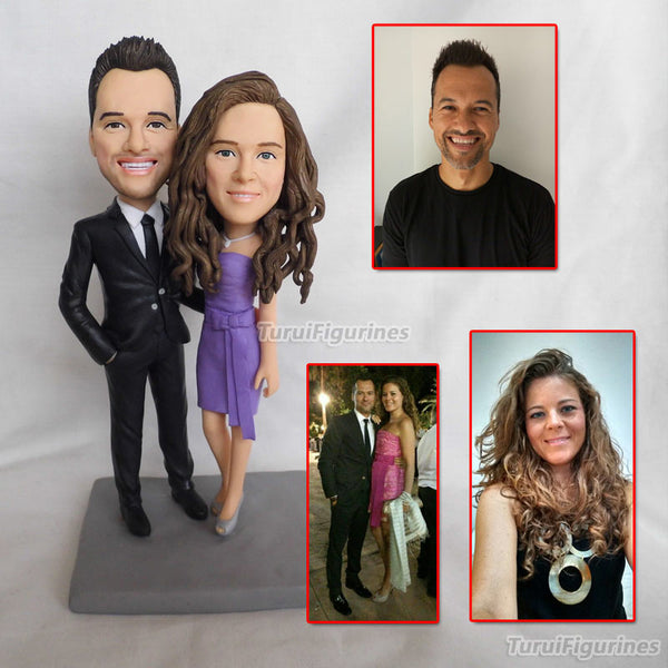 top fashion couple figurine Creative gifts Valentine's day to send girlfriend a gift wedding Figurine sculpture present handmade