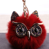 Lovely Owl Plush Doll Kids Favors Fur Ball Key Chain Girl Women Bag Pendant Decors Birthday Party Kids Xmas Gift Baby Shower Toy
