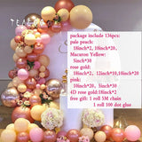 136pcs Rose Gold 4D Balloon Arch Garland Kit Ballon Wedding Baby Shower Graduation Anniversary Organic Party Decoration Backdrop