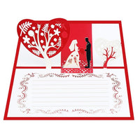 3D Pop UP Invitation Cards Valentines Day Gift Postcard With Envelope Stickers Wedding Greeting Cards Anniversary For Her