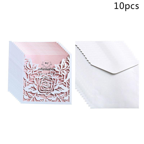10Pcs Invitation Card Valentines Day Gift Postcard With Envelope Stickers Wedding Invitation Greeting Cards Anniversary For Her