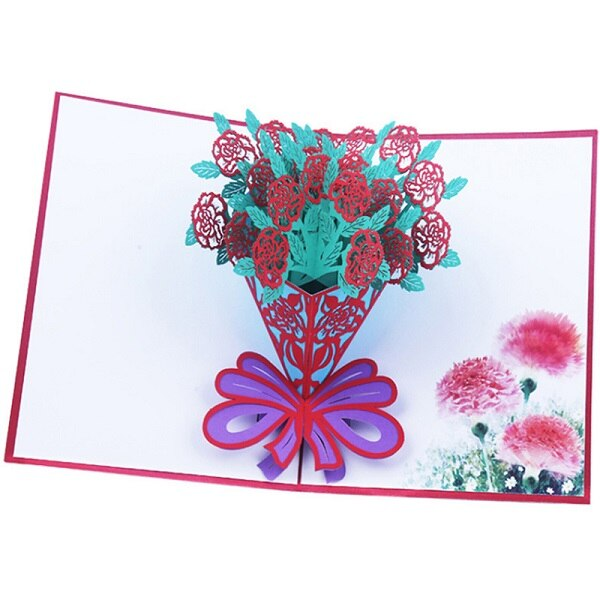 10pcsValentine's Day 3D Love Pop UP Cards with Envelope Stickers Wedding Laser Cut Invitation Greeting Cards Anniversary for Her