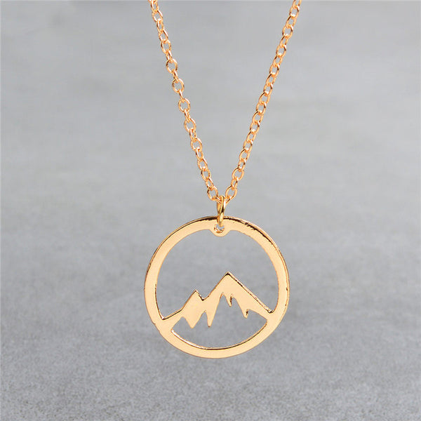 Mountain Necklace Mountain Range Charm Pendant Jewelry Mountains Are Calling Hiking Gift for Her Him