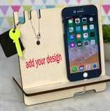 Personalised Gift for Her Couples Anniversary Wife Girlfriend Docking Station Charging Station Husband Boyfriend Him We