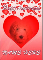 Goldendoodle Dog Anniversary Personalised Greeting Card Mum Dad Mummy codeHM203